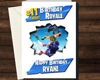 Personalised FORTNITE Birthday Royale Card - Gamer Game PS4 Xbox PS5 Mobile