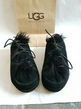Original /WOMAN'S UGG UGGS TRAINERS SIZE 7.5 or eu 40 black colour fur. NEW.