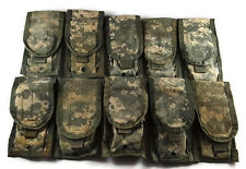 Lot of 10 Double Mag Pouches ACU - Molle II Two Magazine Pouch - US Army