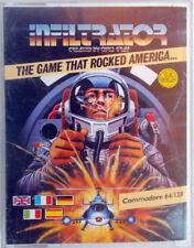 INFILTRATOR 1986 game gioco per Commodore 64 128 by Chris Gray U.S.Gold-cassetta