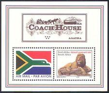 RSA 1997 Airmail Flag/Lion/Wild Cats/Coach House/Flag/Animals 2v m/s (s3867)