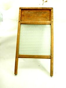 Antique Glass Washboard Columbus Washboard Standard Family Size No.2030