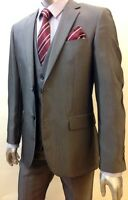 MARC DARCY MENS  GREY 3PC. TAILORED SUITS IDEAL FOR WEDDINGS & FUNCTIONS