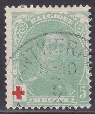 Belgium 1914 Sc #B25 Semi-Postal Stamps 5c used Belgique