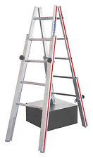 Treppenstehleiter 2x5 Spr. AHmax 2,77m mit 4 verstellbaren Holmen Hymer 412310