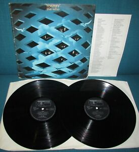 THE WHO Tommy ORIGINAL UK TRACK 1969 DBL Vinyl + Booklet