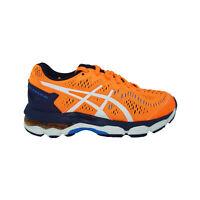 Asics Grade School Boy's Gel Kayano 23 Athletic Shoes Orange Navy Blue Size 1