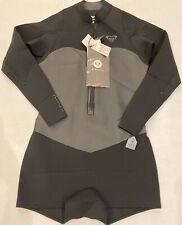 Roxy Satin 2mm LS GBS Front Zip Springsuit Black, Size 10 - NWT