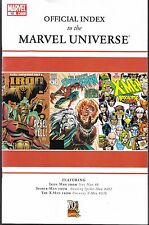 OFFICIAL INDEX TO MARVEL UNIVERSE  #10  2009  IRON MAN, SPIDER-MAN, X-MEN..VF-