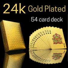 🔥 GOLD POKER Playing CARDS Waterproof PVC Magic Plastic Casino Game 54 Deck