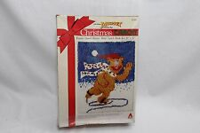 "Caron Fozzie Speed Skater Bear Xmas Latch Hook Kit 20"" x 27"""