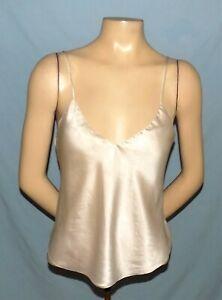 Simply Gorgeous  Laceless Silk Ivory Camisole Size 34 (Medium)