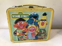 Vintage Aladdin Metal Lunch Box Sesame Street NO Thermos 1979