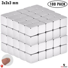 100pcs Tiny Strong 3x3x3mm Multi Use Neodymium N35 Cube Small Magnets Proyects