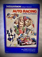 AUTO RACING - Vintage 1980 Mattel Intellivision - Complete Video Game