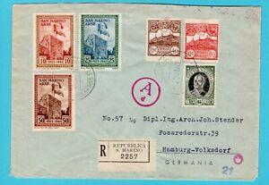 SAN MARINO censored R cover 1943 san Marino to Germany