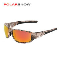 POLAR SNOW Polarized Camouflage Frame Sunglasses Airsoft Hunting Survival Hiking