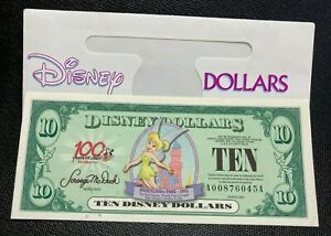 Tinker Bell Disney Dollars Mint $10  2002 100 Years AA 6-digits F/S Crisp UNC