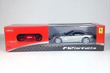 Rastar RC Scale 1:24 Ferrari F12 Berlinetta Silver Car Remote Control NEW GIFT