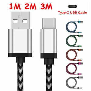 1M2M3M USB 3.1 USB Type C Cable Nylon Line Fast Charger Charging Data Sync Cable