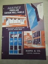 Mapes & Co Catalog~Porcelain Curtain Wall Panels~Insulated/Asbestos ~1962