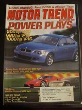 Motor Trend Magazine August 2003 BMW M5 Ferrari Enzo Ford F-150 Nissan Titan C K