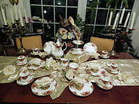 edles Kaffeeservice Royal Albert Old Country Roses mit Etagere 22teilig