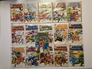Lot 16 volumes-Official Handbook of the Marvel Universe-Marvel 1987 - T1 à T16**