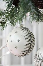 Glaskugel Weihnachtskugel Baumschmuck Christbaumschmuck Advent Shabby Chic