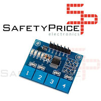 Modulo TTP224 4 canales way sensor capacitivo digital touch tactil arduino SP