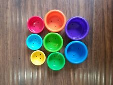 8 Stacking Cups Multi Color Bath Toy