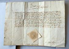 Pope Alexander VI Borgia manuscript letter 1500 Rome Italy