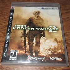 Call of Duty Modern Warfare 2 Sony Playstation 3 2009 Used Video Game Play Stat
