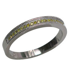 ADORABLE ROUND CUT CITRINE 925 STERLING SILVER BAND RING SIZES 5-10