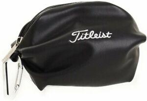 Titleist Japan Golf Classic Ball Pouch Bag Case AJBC85 PU Leather Black NEW