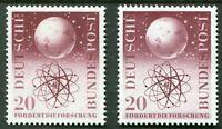 2 x Bund Nr. 214 sauber postfrisch Forschungsförderung BRD 1955 MNH