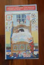 "Medici Advent Calendar NEW Sleeping Child in Bed w/Teddy Bear 8"" x 12"""
