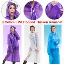 EVA Raincoat Adult Hooded Rain Poncho Waterproof Translucent Rain Coat Woman Man