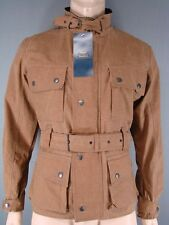 NEW WITH TAGS ROYAL PADDOCK BELTED BEIGE WAXED PURE COTTON JACKETS-S/M/L/XL/XXL