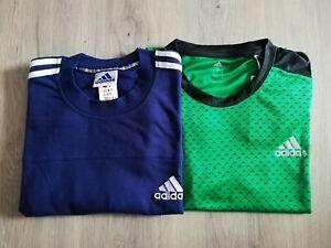 Adidas T-Shirts Set Herren grün blau Shirt Männer Oberteil Sport NEU!