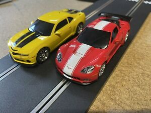 Scalextric Hornby 1/32 Slot Cars Camaro & Corvette