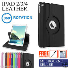 New iPad4 iPad3 iPad2 Smart Leather 360° Rotate Cover Case+Stylus+Screen Film