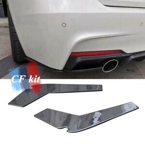 Fits For BMW F30 2012-2019 Carbon Fibre Rear Bumper Side Splitters Fin  M Sport