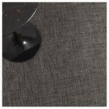 "Chilewich Basketweave Woven Vinyl Floor Mat 46"" X 72"" Carbon"