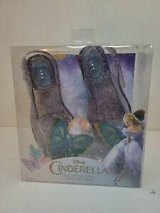 Disney CINDERELLA Enchanted Waltz LIGHT UP GLASS SLIPPERS Shoes