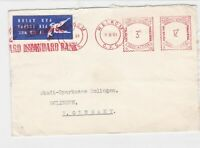 welkom 1961 south africa airmail standard bank stamp cover  Ref 10054