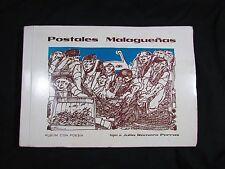 Postales Malaguenas Malaga Spain Book of Poetry w/ Postcards Julia Romero Porras