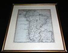 1749 BRITISH MAP of SOUTH AMERICA by T. JEFFERYS GEOGRAPHER PRINCE of WALES (ray