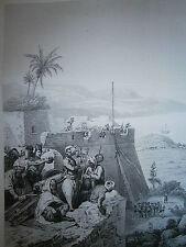 Gravure 19° guerre de Louis Philippe prise de Bone 1832