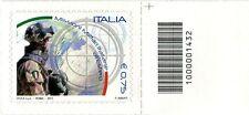 2011 francobollo Missioni Militari Italiane all'Estero DX CODICE A BARRE 1432